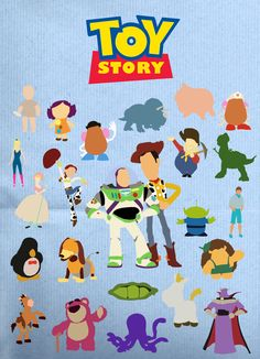 Toy Story characters for door decs