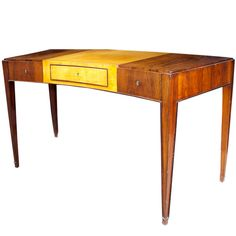 Jacques Adnet Rosewood Desk From 1930s