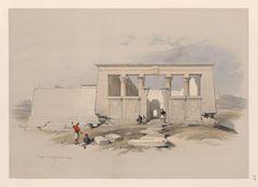 Temple at Wady Dabod [Wadi Dâbûd], Nubia by David Roberts