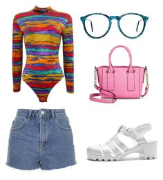 """""""Cute"""" by madddgalriri ❤ liked on Polyvore featuring Topshop and Merona"""