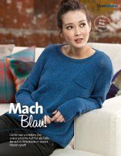 Strickanleitung Blauer Pullover Fantastische Strickideen Lang Yarns 0215