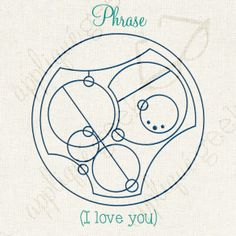 The phrase I love you. in #Gallifreyan. A a Doctor Who inspired design.