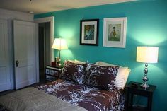 Succulent Tiffany Blue And Brown Bedroom Ideas Image by corrine