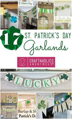 Here are my favorite St. Patrick's Day Garlands from around the web! Add a touch o' the Irish to your St. Patrick's Day decor.
