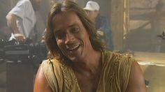 On set with Kevin Sorbo for his '90s Hercules TV show.