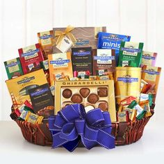 Our Ghirardelli Deluxe Gift Basket.