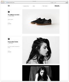 Branding and web design for Artwork, company blog for Face, a design studio in Monterrey, Mexico