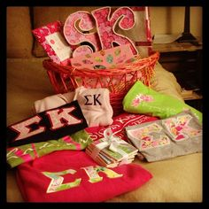 Sorority Please pinned my basket from Alana!!!! whoooo famous big and little right hurrrr