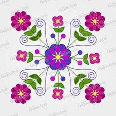 Curso gratis aprende cómo bordar cojines a mano ~ Mimundomanual Floral Embroidery Patterns, Mexican Embroidery, Applique Patterns, Applique Quilts, Embroidery Stitches, Knitting Stitches, Embroidery Designs, Mundo Hippie, Mexican Wall Art