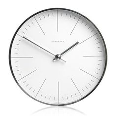 *** Max Bill Modern Wall Clock with Lines | Available from NOVA68.com Modern Design
