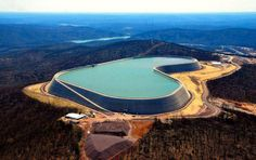 The Taum Sauk pumped storage plant is located in the St. Francois mountain region of the Missouri Ozarks.