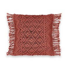 We love this macramé cushion cover. Cushion Pads, Cushion Covers, Knotty Tie, Boho Pillows, Throw Pillows, Knit Pillow, Boho Room, Macrame Design, Macrame Tutorial