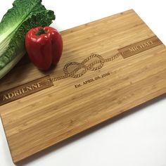 Cutting Board Personalized Wedding Gift Rustic by WoodEnvyDotCom