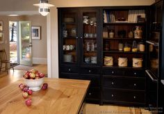 #Kitchen Idea Of The Day: Early American Kitchen With Black Cabinets (by  Crown