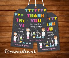 Chalkboard Printable, Birthday Chalkboard, Printable Invitations, Birthday Invitations, Printables, Thank You Labels, Thank You Tags, Thank You Notes, Mad Science