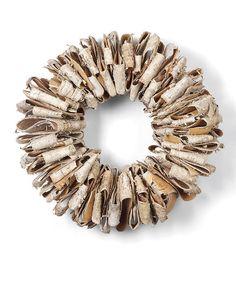 DIY inspiration-Birch Bark Small Ribbon Wreath
