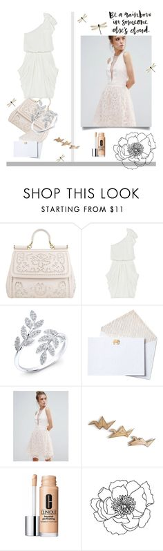 """Wedding day"" by alongcametwiggy ❤ liked on Polyvore featuring Dolce&Gabbana, Alice + Olivia, Anne Sisteron, John Robshaw, Little Mistress and Clinique"