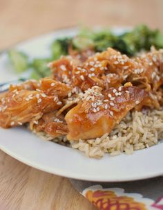 Honey Sesame Chicken (Slow Cooker) - Fake Ginger