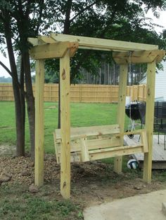 DIY Swing and Arbor (swing plans from from Ana White& site .