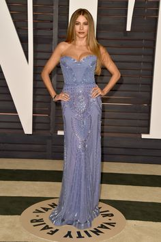 Pin for Later: 25 Looks From Last Year's Oscars That Practically Reinvented the Word Sexy Sofia Vergara Sofia Vergara showed off her curves in a bustier-top, beaded gown at the Vanity Fair afterparty.