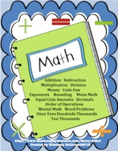 Hello Teachers,This math bundle includes:Product 1  Math Challenges!  This product has 20 math challenges! These challenges include addition, subtraction, multiplication, and division and range from easy to difficult. Great for early finishers, homework, review, math centers, and extra credit!