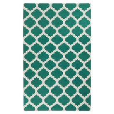 Ash Hand-Woven Juniper Green/ White Area Rug