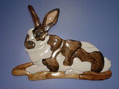 Brown and white rabbit