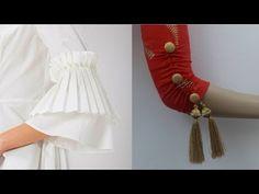 2 Creative sleeves mohri design making Kurti Sleeves Design, Sleeves Designs For Dresses, Fancy Blouse Designs, Sari Blouse Designs, Kurti Neck Designs, Dress Neck Designs, Sleeve Designs, Designer Party Wear Dresses, Kurti Designs Party Wear