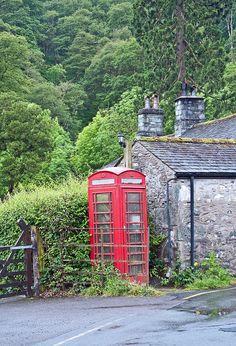 The Seatoller Telephone Box, Seatoller, Borrowdale, Cumbria UK