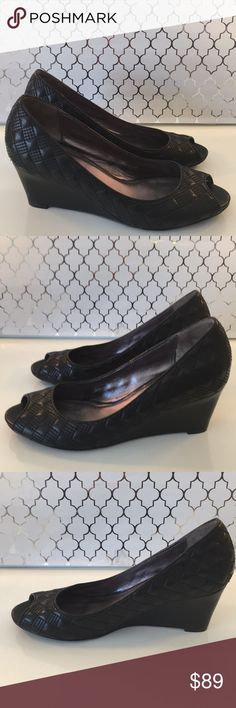 ❤️COLE HAAN BLACK WEDGES 💯AUTHENTIC COLE HAAN BEAUTIFUL BLACK WEDGES 100% AUTHENTIC. STUNNING AND STYLISH ALWAYS ON TREND! ONLY WORN ONCE! THEY ARE A SIZE 8 . THE HEEL HEIGHT IS 2.5 INCHES. Cole Haan Shoes Wedges