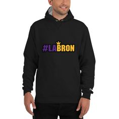 Show off your trendy side with this Champion hoodie! The hashtag print on cotton shell, two-ply hood with a colored lining, and the instantly recognizable Champion logo on left sleeve all come together in this soft and durable hoodie that's made to last. Champion Logo, New Champion, Champion Pullover Hoodie, Crew Neck Sweatshirt, Hoody, Las Vegas, Look Cool, Black Hoodie, Capoeira