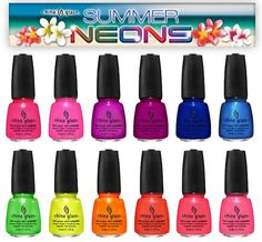 I can't get over how much I love nail polish and these neons look freaking amazing!