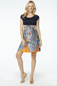 Maternal America Paisley Print Front Tie Dress
