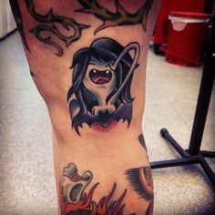 I got my #marceline tattoo from @alana_tattoos today! So exciting! Thanks again! #adventuretime