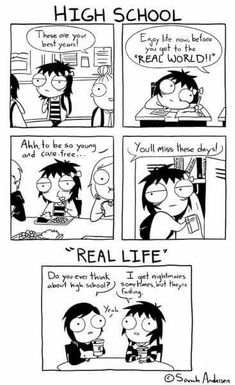 Anybody who's familiar with the comics of Sarah Andersen will know how perfectly they summarize the daily struggles of modern life, especially when it comes to Funny Shit, The Funny, Hilarious, Cute Comics, Funny Comics, Saras Scribbles, Sarah Andersen Comics, Sara Anderson, The Awkward Yeti