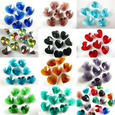 Charms Glass Crystal Heart Faceted Pendant Jewelry Findings 14mm Loose Beads   #Unbranded #Faceted