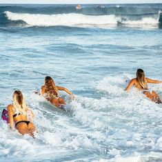 The thing that is first do every early morning is go online to check the surf. If the waves are good, I'll go surf. Surf Workout, Weekender, Great Things Take Time, Trash Polka, Surf Trip, Surf City, Surf Girls, Bodysuit, Beach Bum