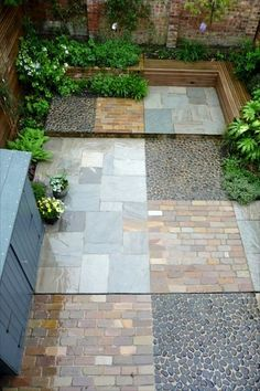 1000 images about garden floor surfaces paving decking for Hard surface garden designs
