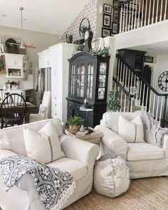 rustic farmhouse living room design and decor ideas for your home 00007 Home Living Room, Living Room Designs, Living Room Decor, Farmhouse Living Room Furniture, Bedroom Decor, Country Farmhouse Decor, Modern Farmhouse, Farmhouse Style, Vintage Country
