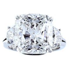 Harry Winston 8 80 Carat GIA Cert Diamond Platinum Ring Harry Winston 8 80 Carat GIA Cert Diamond Platinum Ring