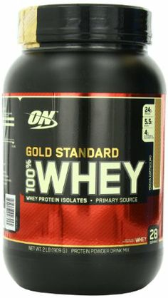 Optimum Nutrition 100% Whey Gold Standard, Vanilla Ice Cream, 2 Pound