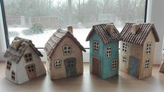 Clay Houses, Ceramic Houses, Miniature Houses, Pottery Houses, Mini Fairy Garden, Ceramics Projects, Fairy Houses, Little Houses, Miniatures