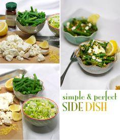 Green Beans with Feta Cheese & Leeks Recipe ****sub olive oil for butter Leek Recipes, Side Recipes, Vegetarian Recipes, Healthy Recipes, Healthy Foods, Green Bean Recipes, Dinner Sides, Healthy Food Choices, Spaghetti Squash