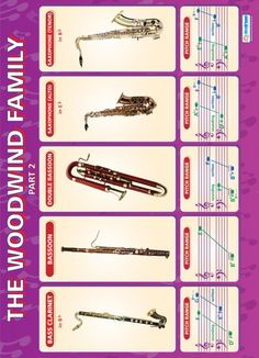 The Woodwind Family (part 2) | Music Educational School Posters
