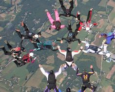 Sky diving with friends...i see no purpose for jumping out of a perfectly good airplane.