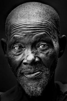 The Old African Photograph - The Old African Fine Art Print