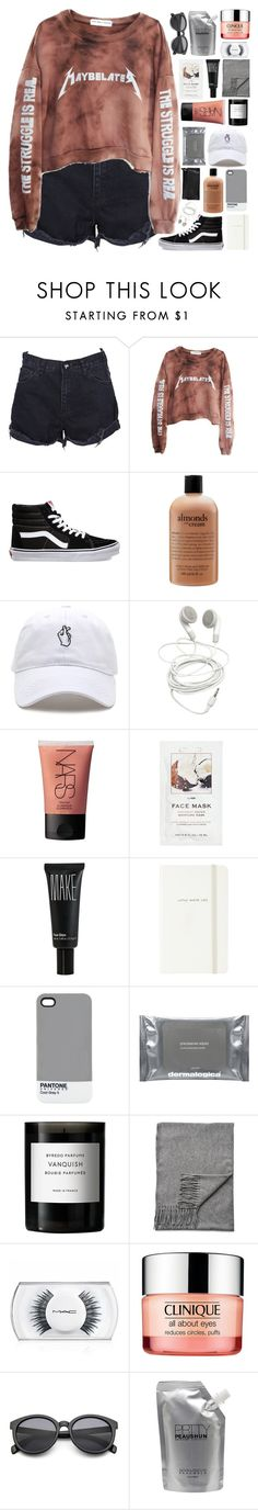 """""""i stand a hundred feet but i fall when I'm around you"""" by untake-n ❤ liked on Polyvore featuring OneTeaspoon, High Heels Suicide, Vans, philosophy, Clare V., NARS Cosmetics, H&M, Make, Kate Spade and Pantone"""