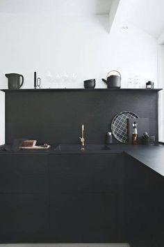 Love the black kitchen!