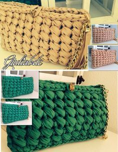 Giuly clutch bag other colors ;-)- Pochette Giuly altri colori 😉 Giuly clutch bag other colors ; Crochet Skirt Pattern, Bag Crochet, Crochet Clutch, Crochet Diy, Crochet Handbags, Crochet Purses, Crochet Patterns, Crochet Gifts, Macrame Bag