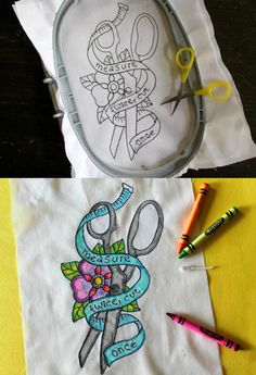 Color your embroidery! Get the free download for this design and learn how to creatively color your work. When heat-set, the finished piece will withstand wearable abuse & washes.